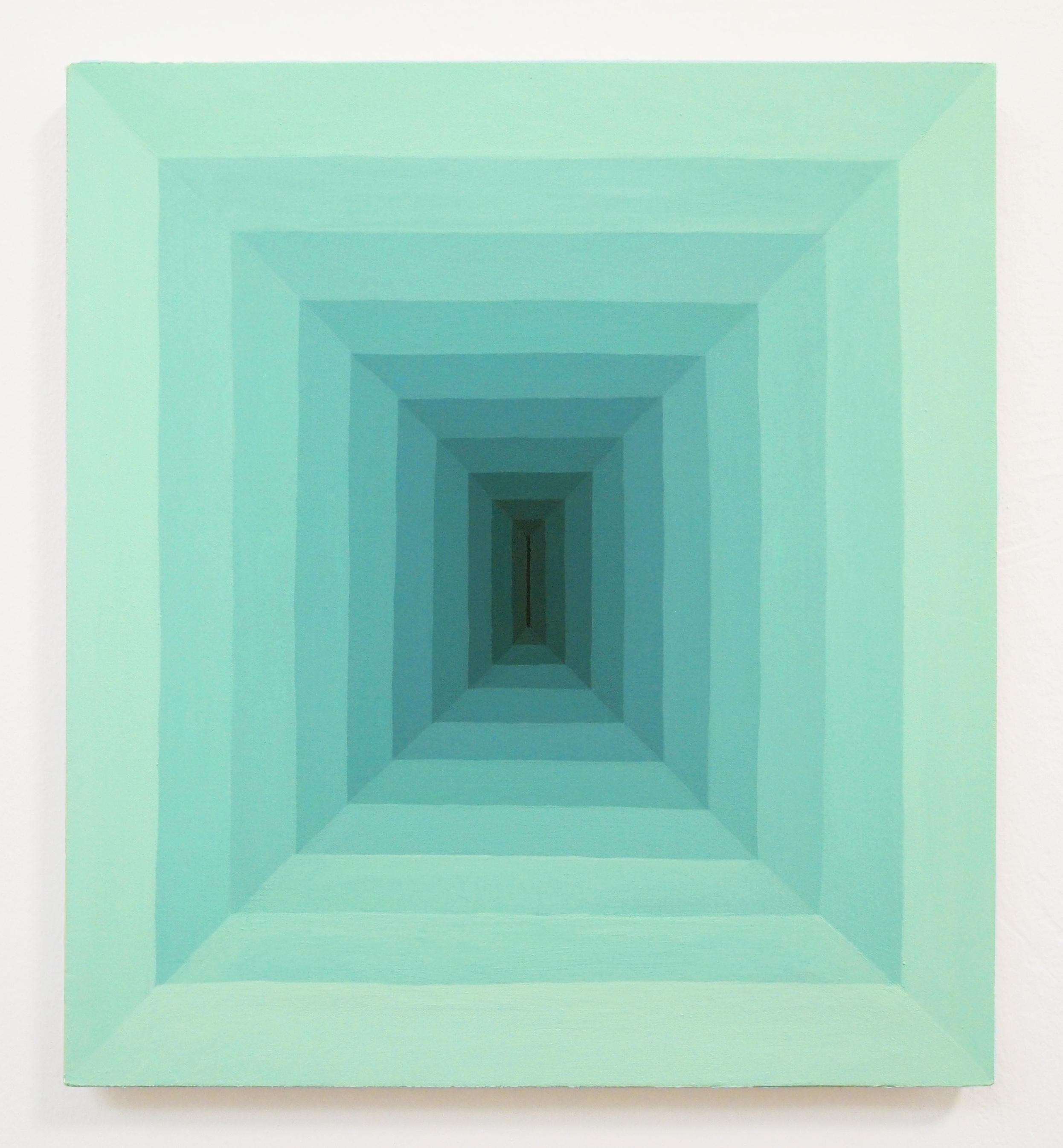 Corydon Cowansage, Hole 36, 2018, acrylic on canvas, 20 x 18 inches