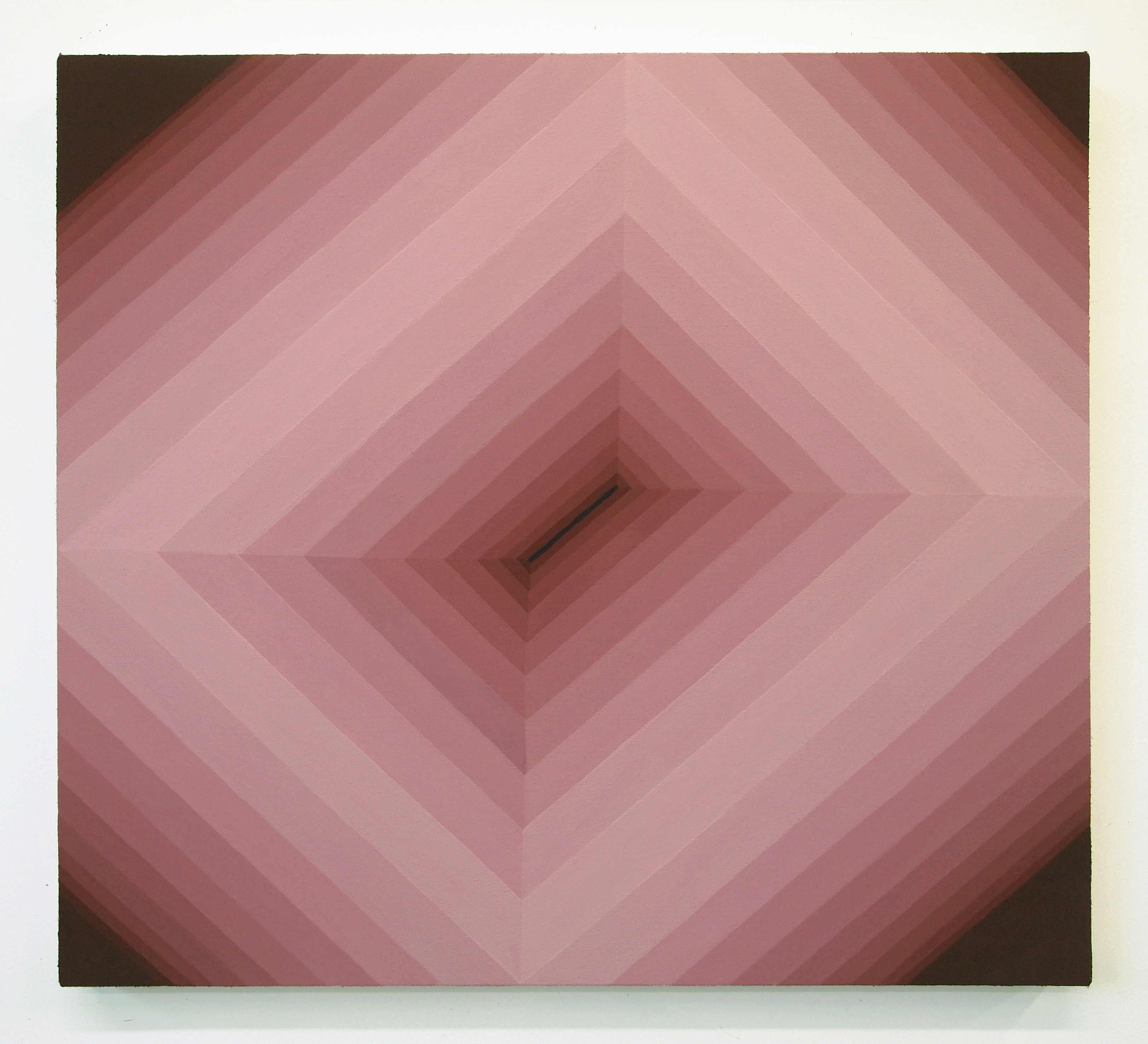 Corydon Cowansage, Hole 48, 2018, acrylic on canvas, 22 x 24 inches