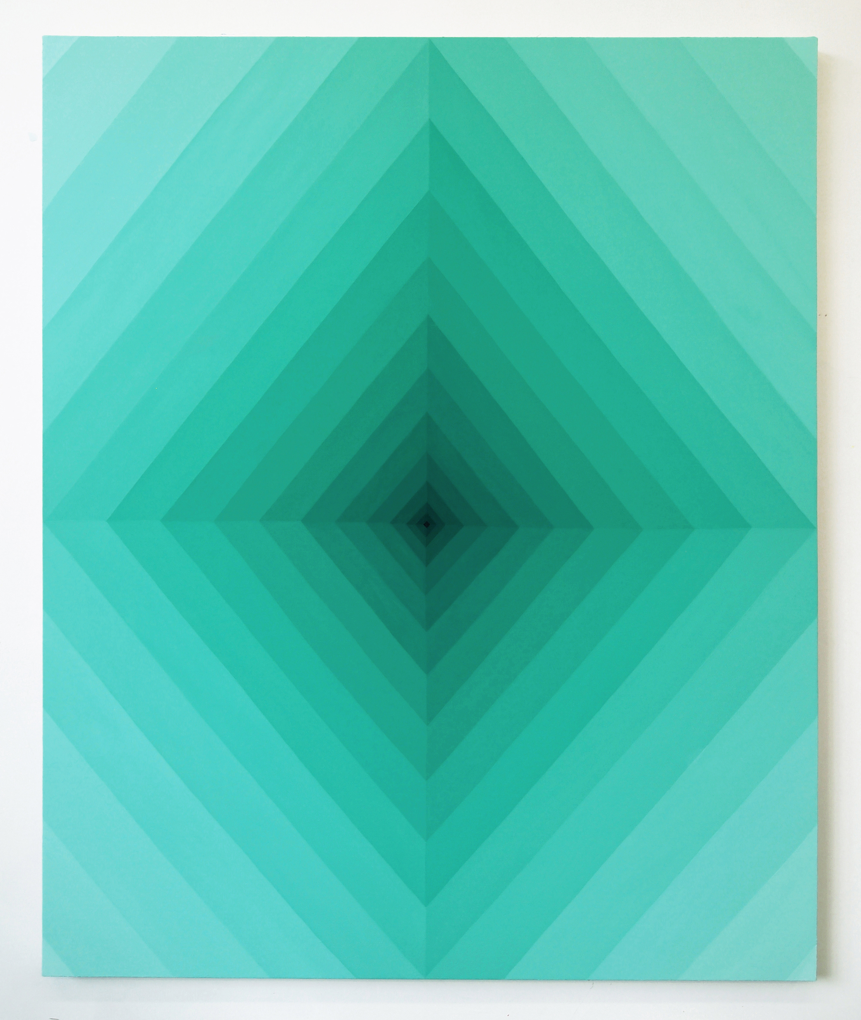 Corydon Cowansage, Hole 50, 2018, acrylic on canvas, 60 x 48 inches