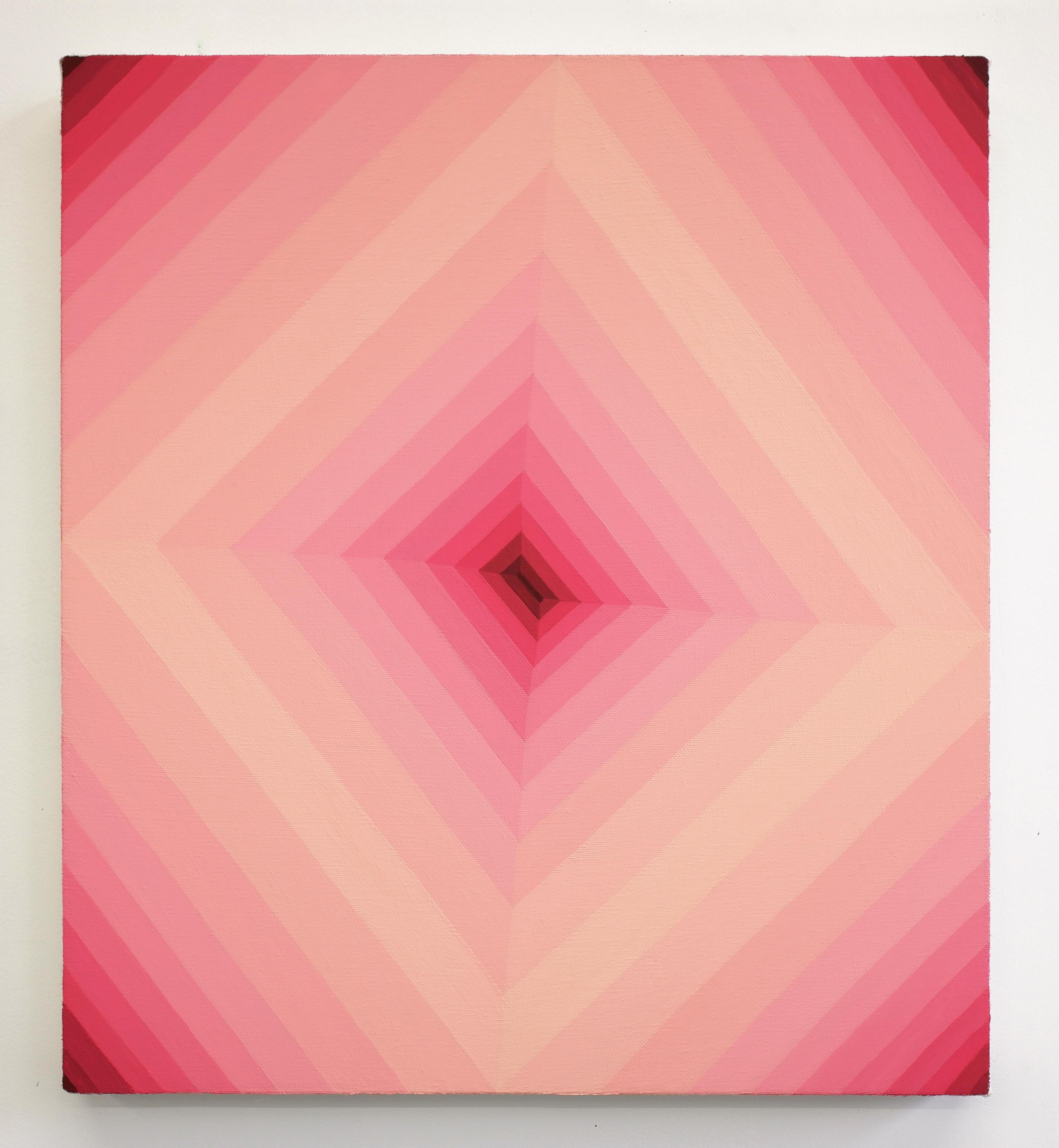 Corydon Cowansage, Hole 54, 2019, acrylic on canvas, 18 x 16 inches