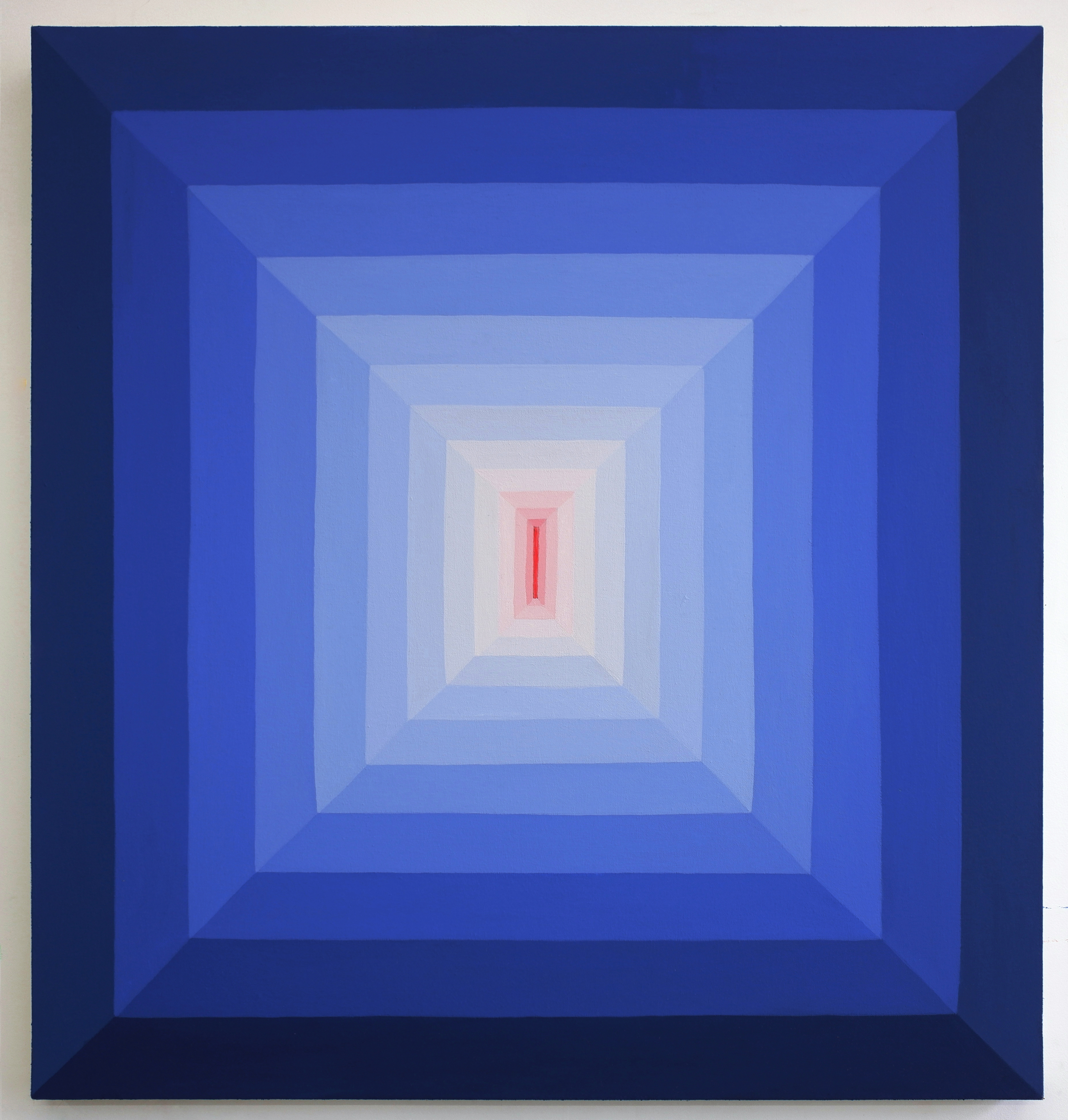 Corydon Cowansage, Hole 61, 2019, acrylic and vinyl paint on canvas, 32 x 30 inches