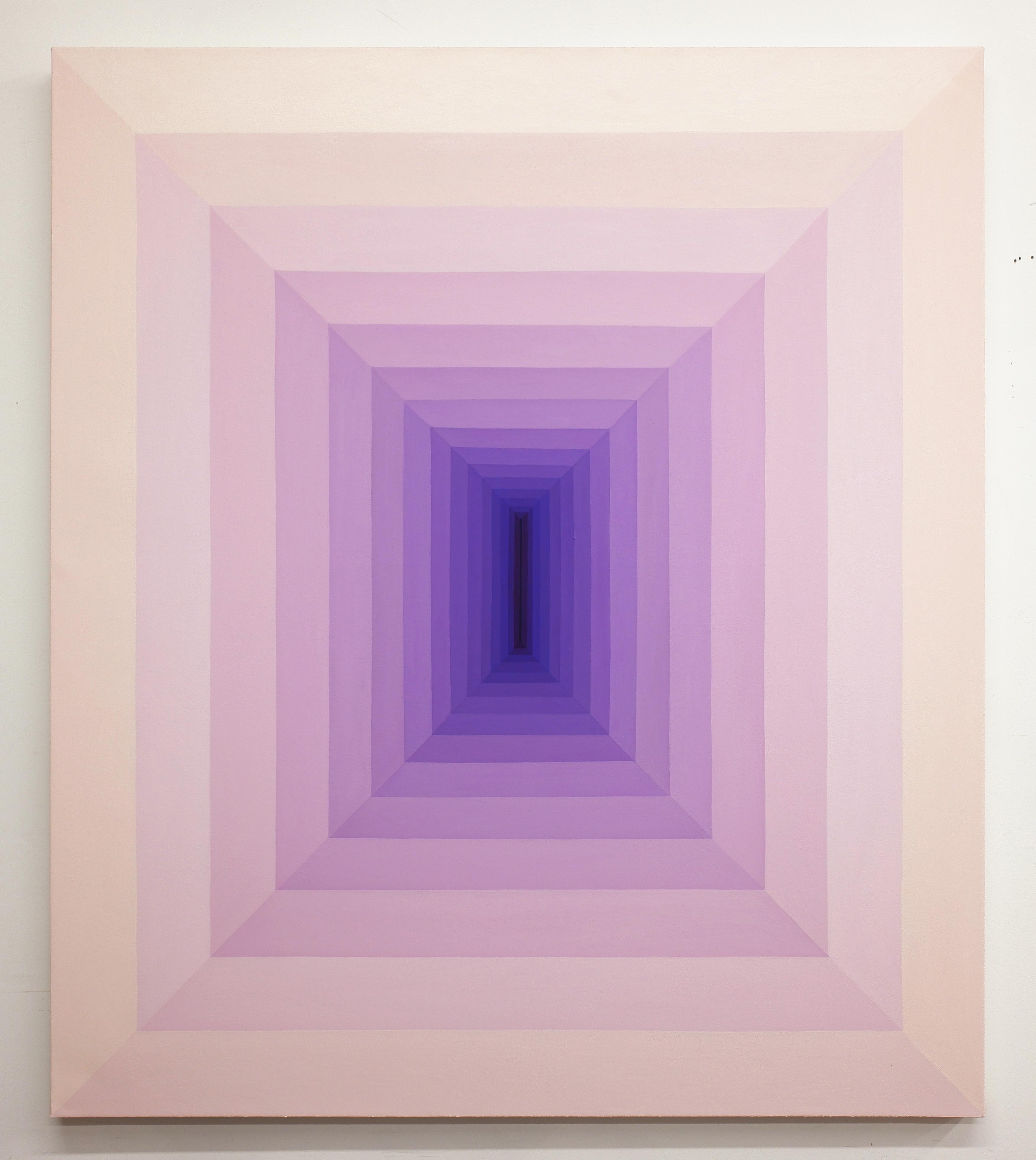 Corydon Cowansage, Hole 62, 2019, acrylic and vinyl paint on canvas, 50 x 46 inches