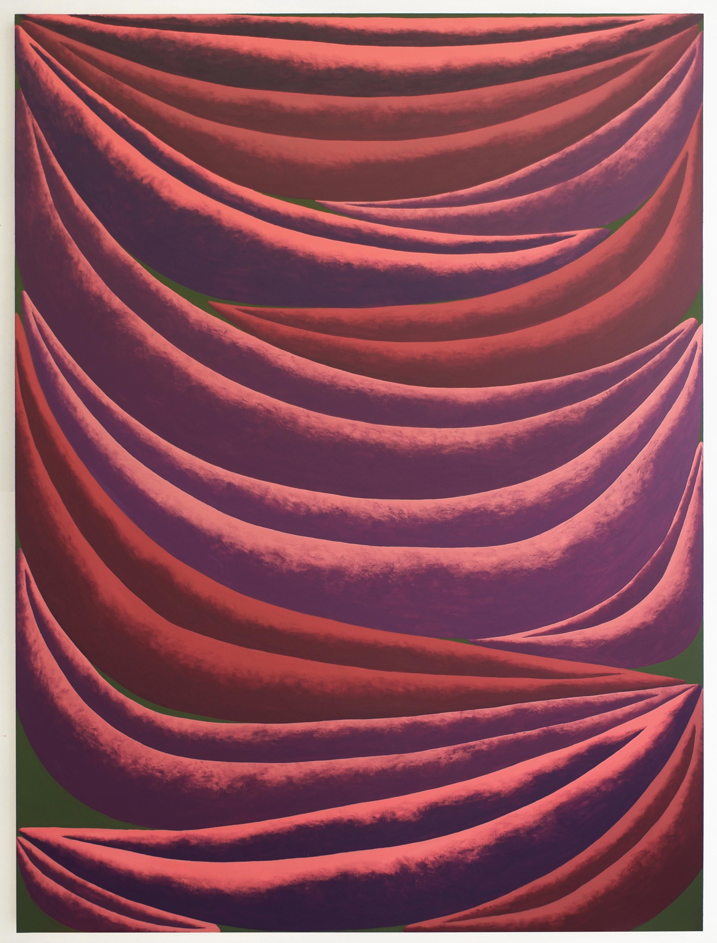 Corydon Cowansage, Pink, Purple, Green, 2021, acrylic on canvas, 78 x 58 inches