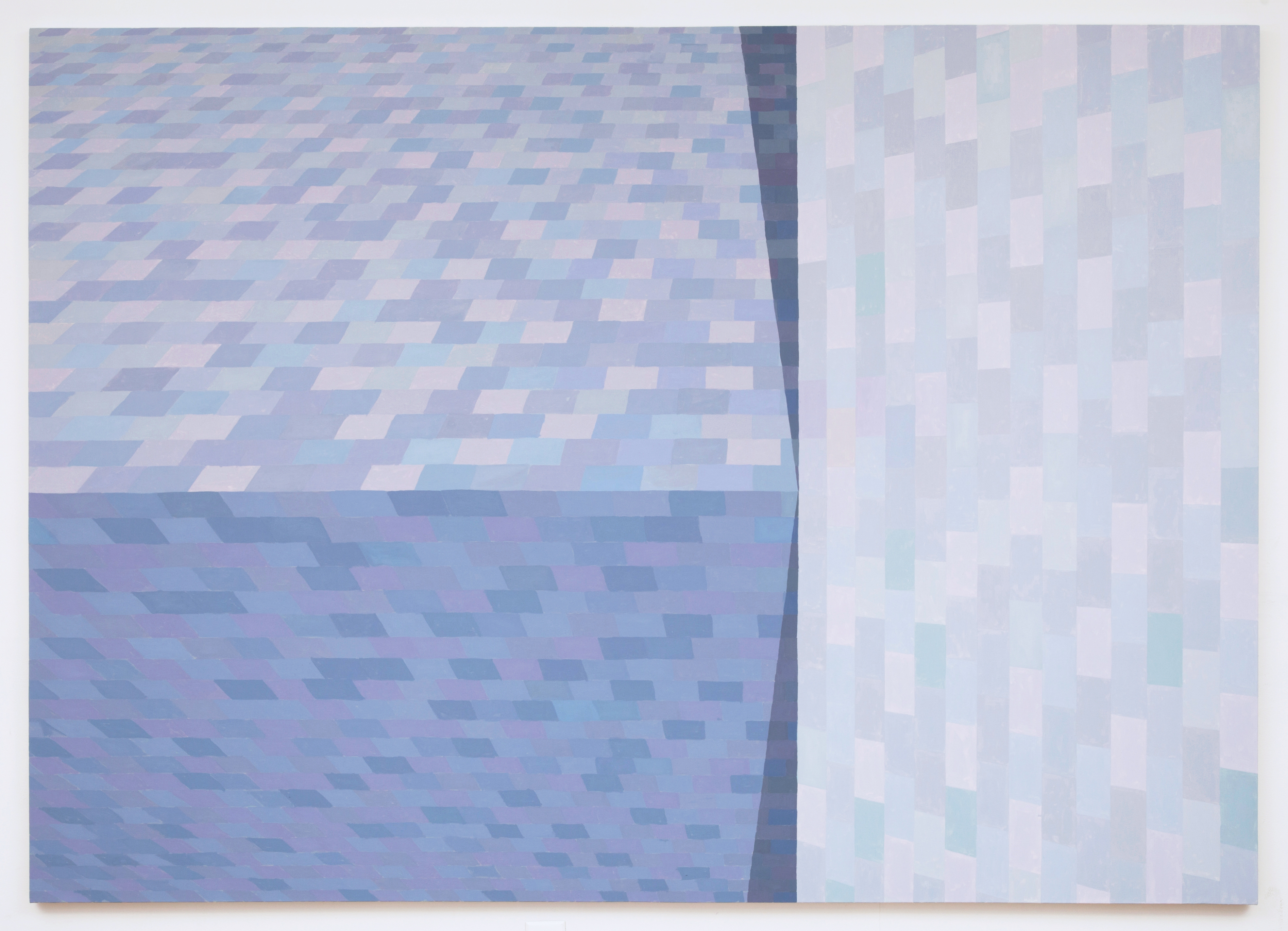 Corydon Cowansage, Roof 16, 2013, oil on canvas, 76 x 106 inches