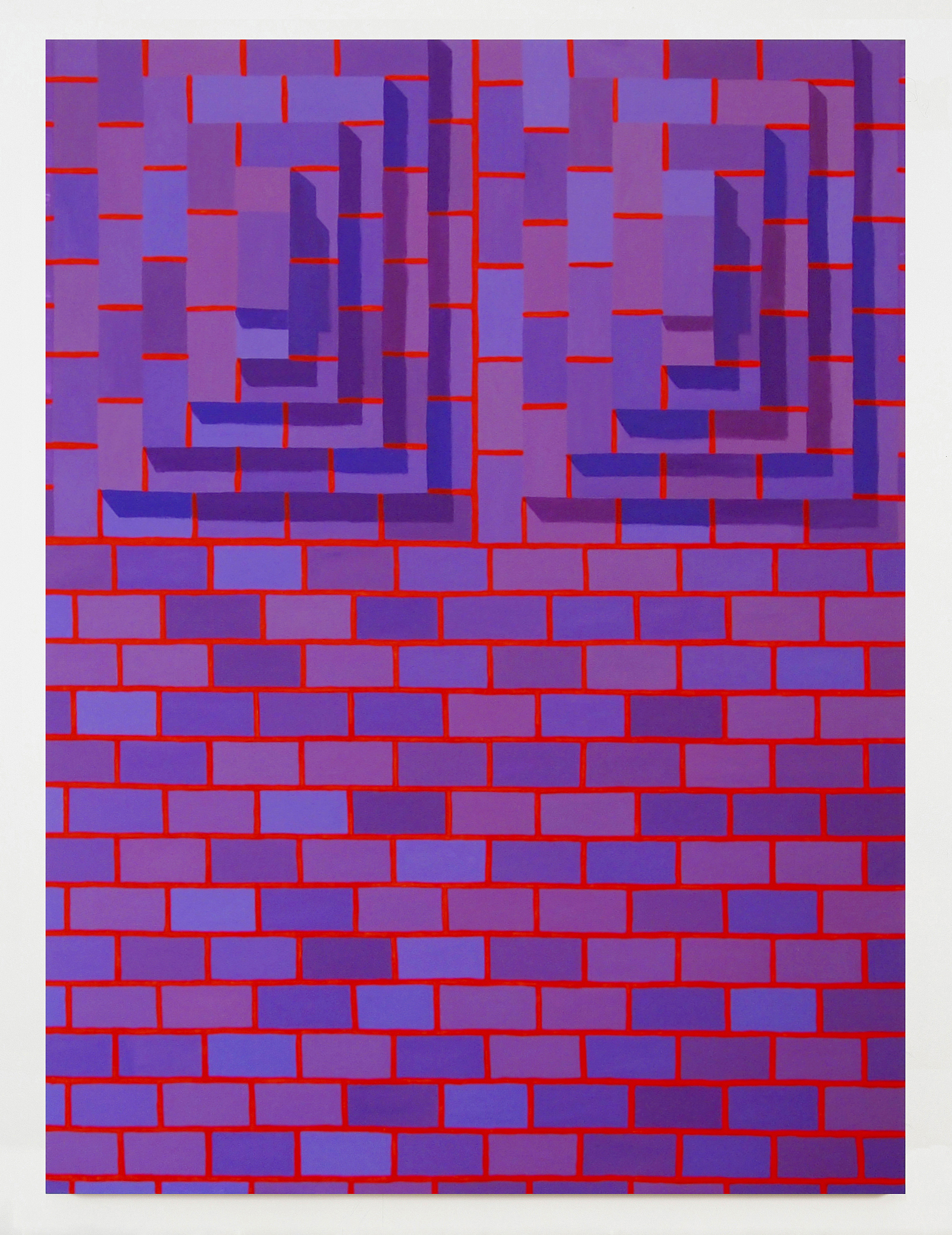 Corydon Cowansage, Stack 11, 2017, acrylic on canvas, 78 x 58 inches