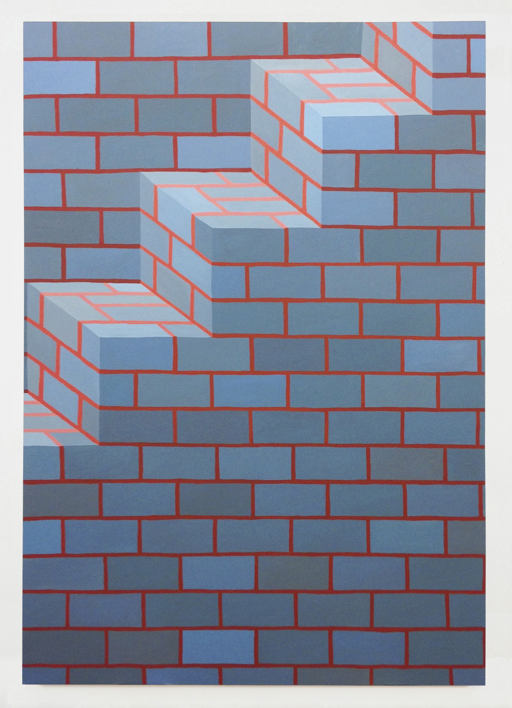Corydon Cowansage, Stairs 4, 2017, acrylic on canvas, 72 x 50 inches