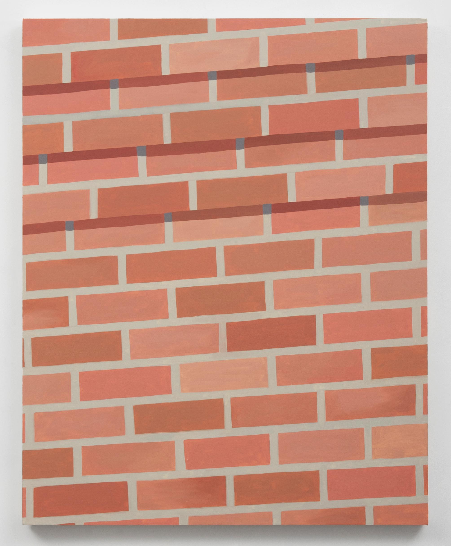 Corydon Cowansage, Wall 1, 2014, oil on canvas, 50 x 40 inches