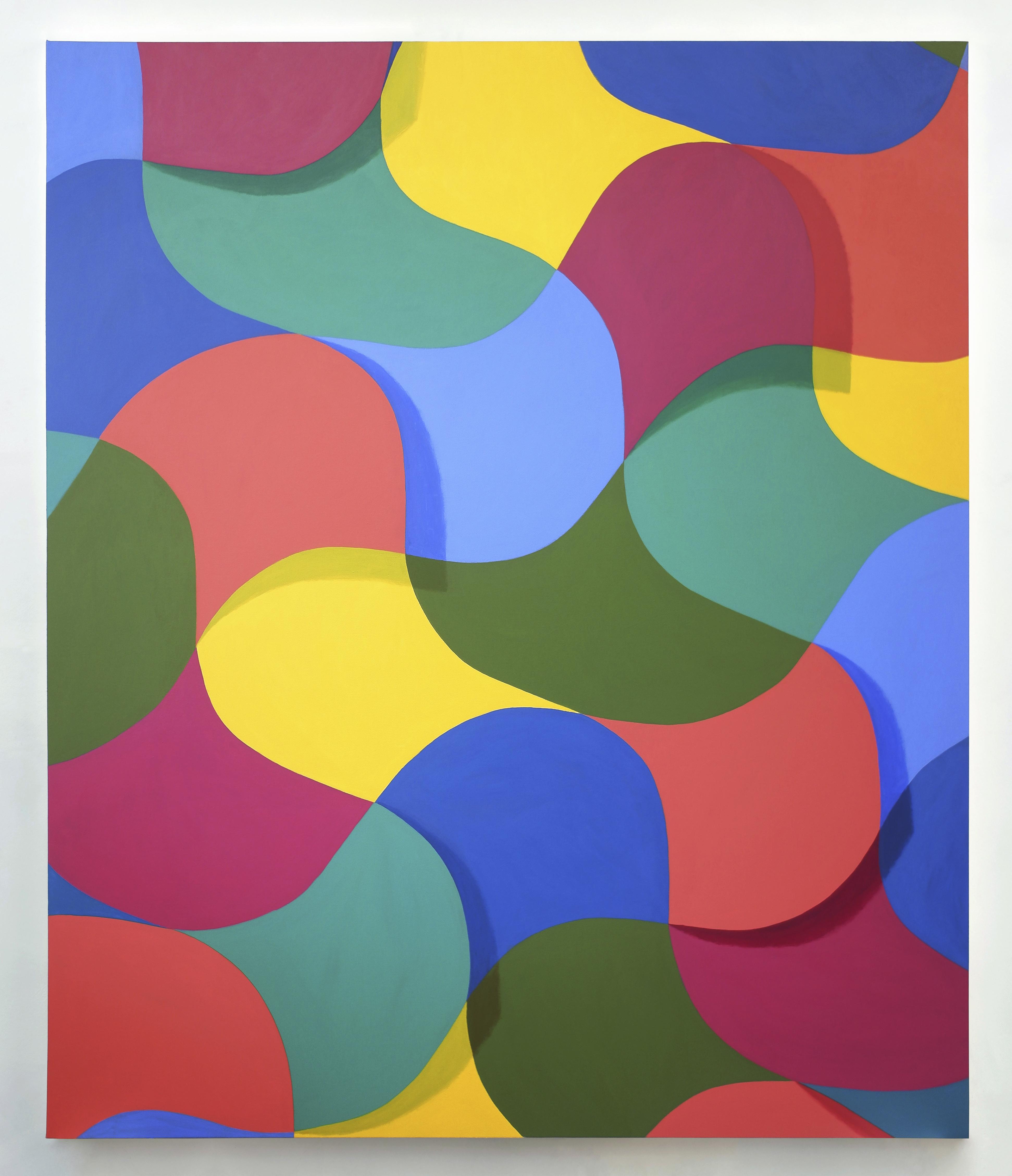 Corydon Cowansage, Waves 1, 2020, acrylic on canvas, 84 x 70 inches