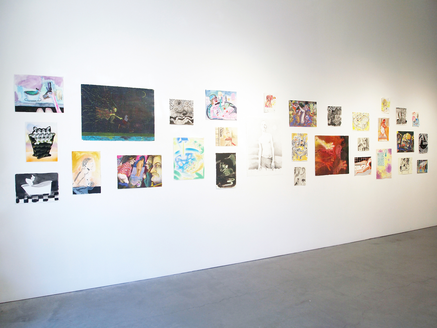 Installation views of Bathers at Bass & Reiner in San Francisco at the Minnesota Street Project, 2018