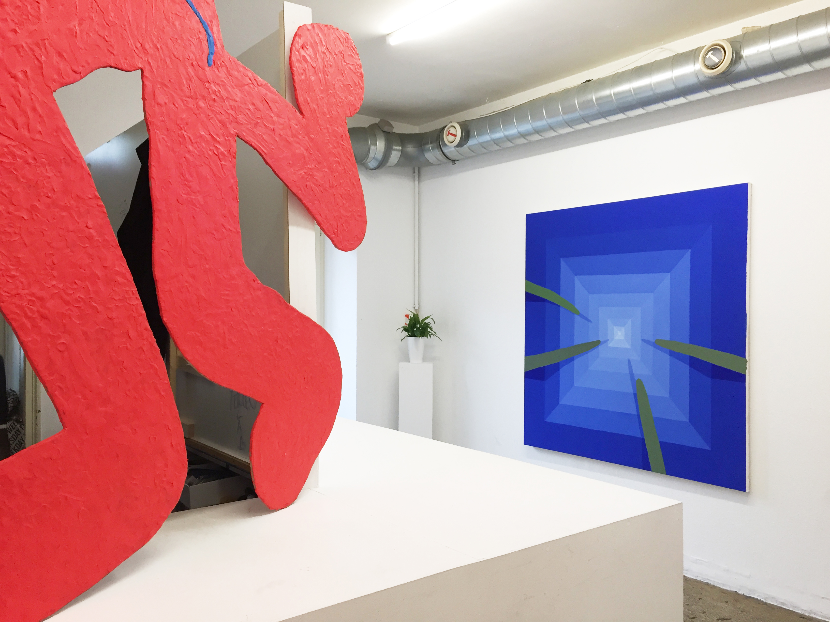 Installation view of Creeper at Deli Projects in Basel, Switzerland, 2016
