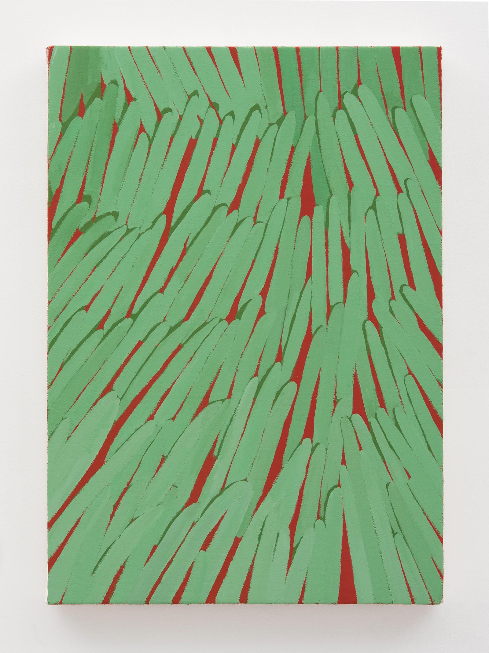 Corydon Cowansage, Grass #42, 2015, 20 x 14 inches, acrylic on canvas