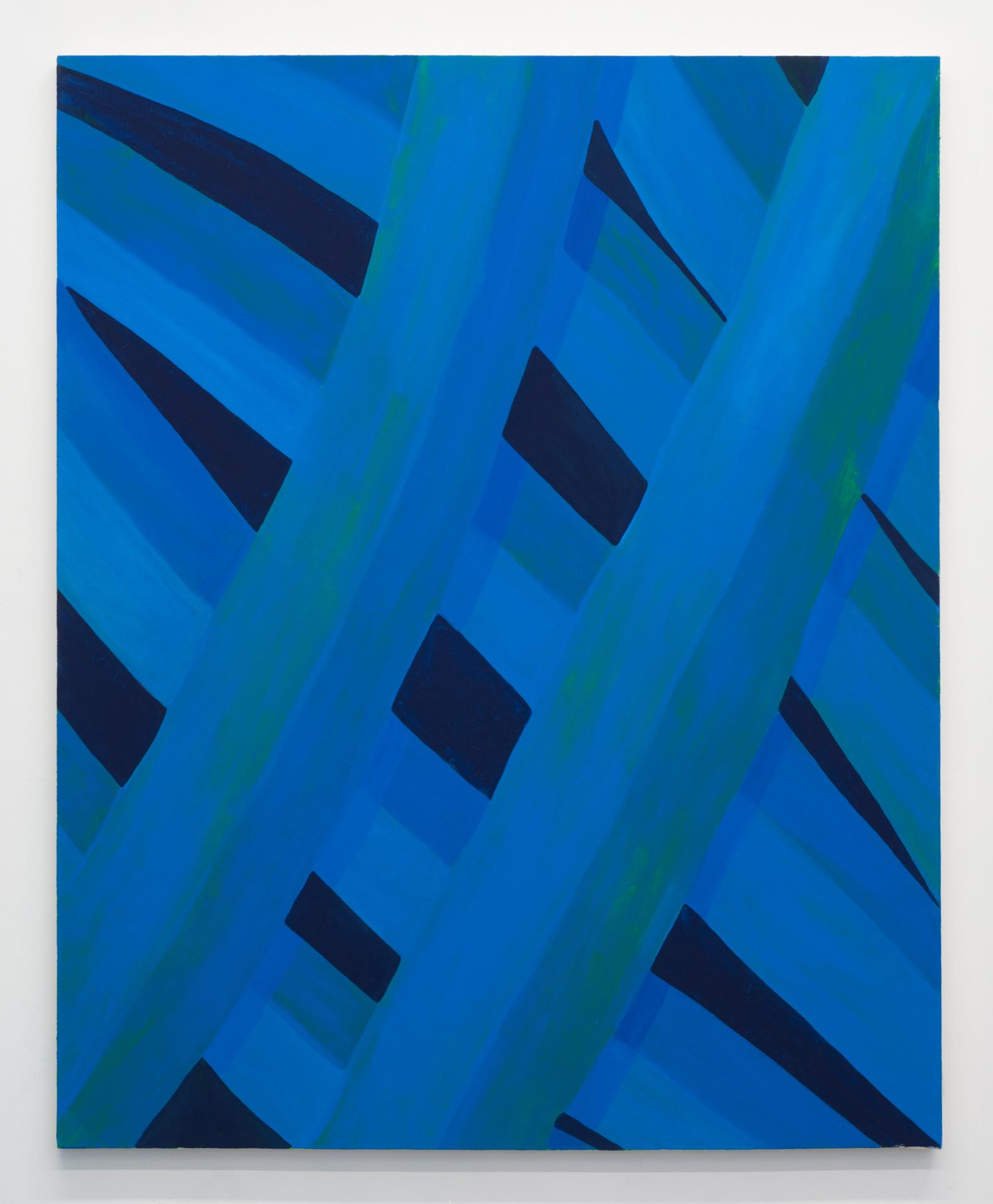 Corydon Cowansage, Grass #47, 2015, 50 x 40 inches, acrylic on canvas