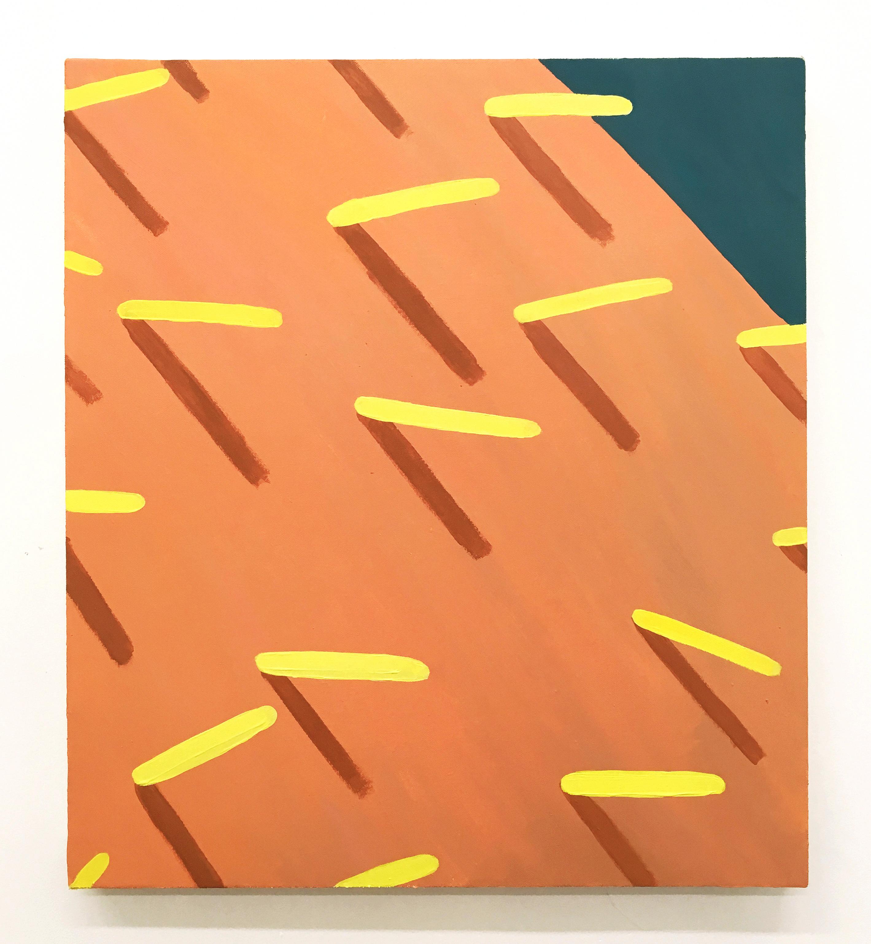 Corydon Cowansage, Grass #80, 2018, 20 x 18 inches, acrylic on canvas