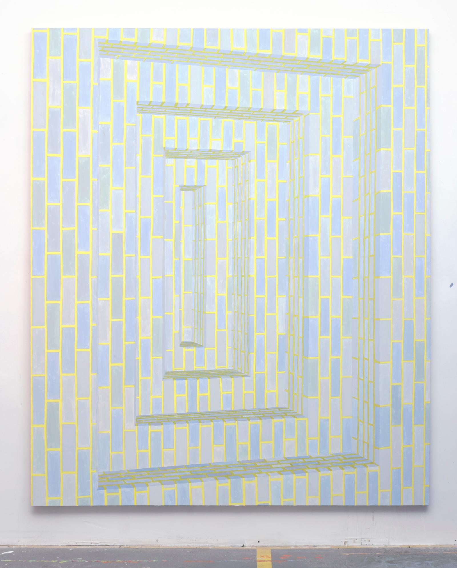 Corydon Cowansage, Hole #1, 2015, 84 x 70 inches,  acrylic on canvas