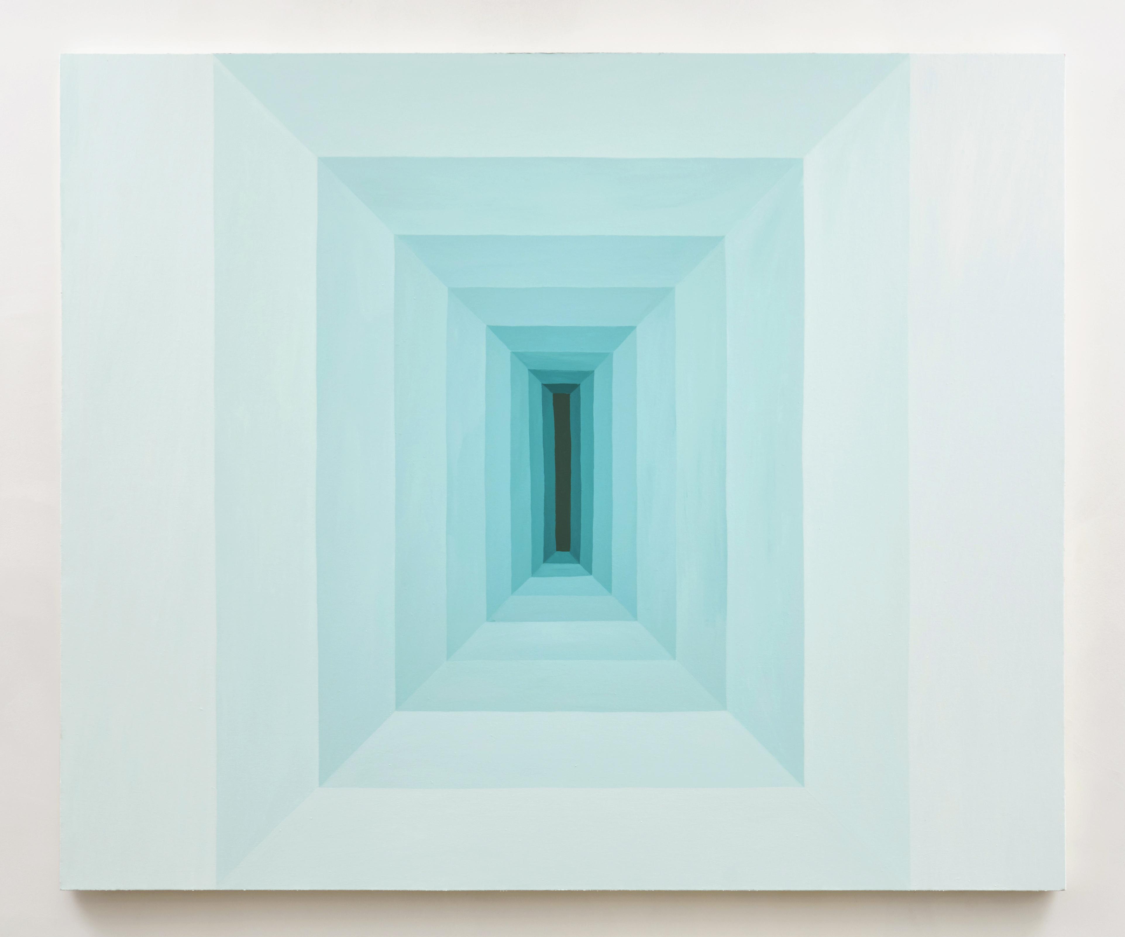 Corydon Cowansage, Hole #14, 2017, 65 x 78 inches, acrylic on canvas. Photo credit: Tyler Kufs