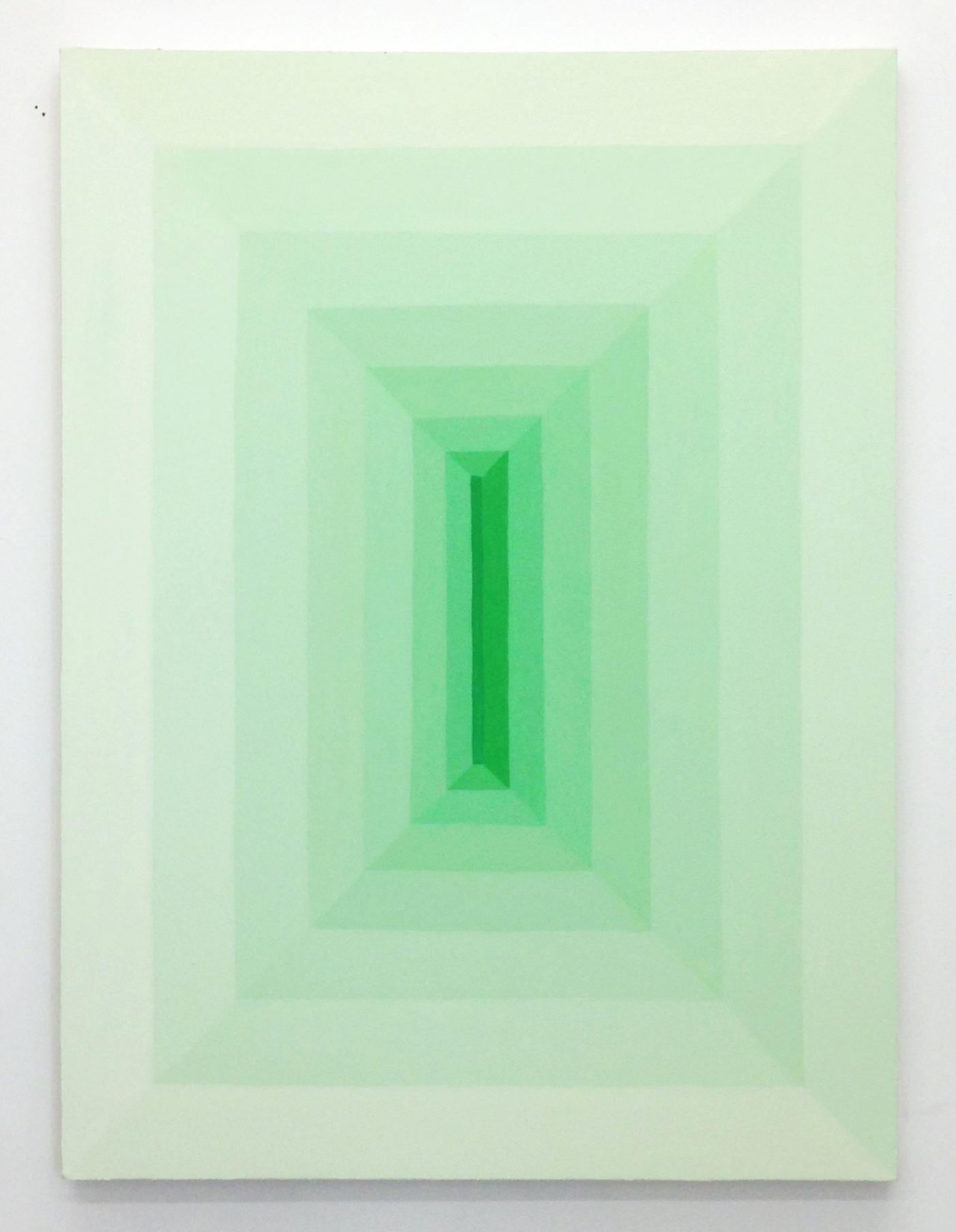 Corydon Cowansage, Hole #21, 2017, 48 x 36 inches, acrylic on canvas
