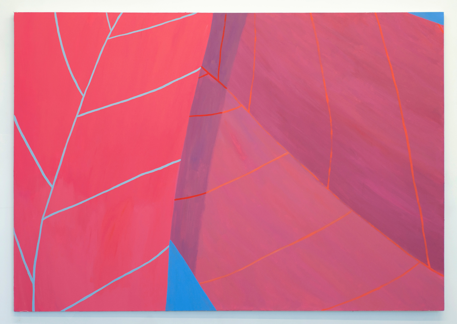 Corydon Cowansage, Leaves #8, 2015, 50 x 72 inches,  acrylic on canvas