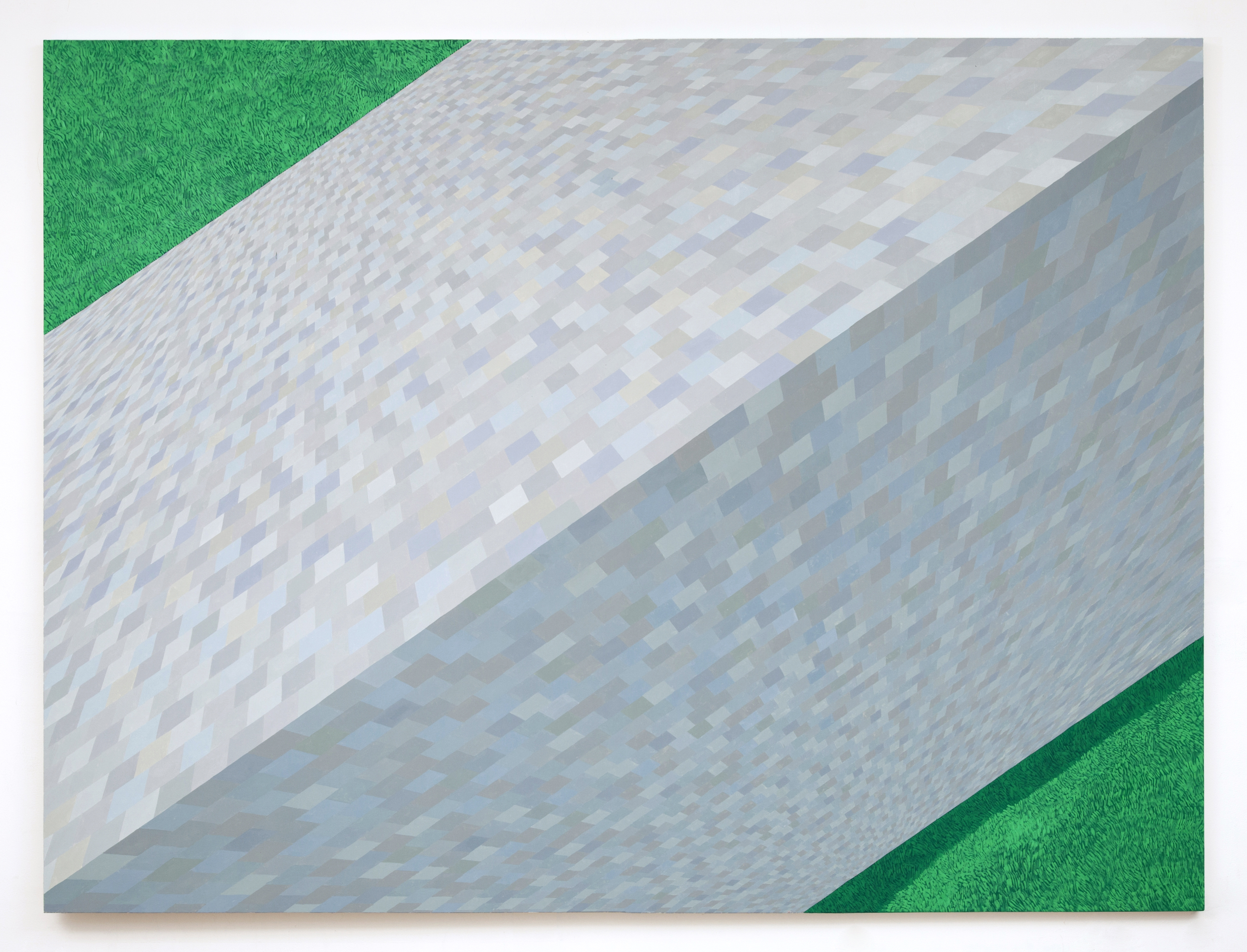 Corydon Cowansage, Roof #12, 2012, 76 x 108 inches, oil on canvas