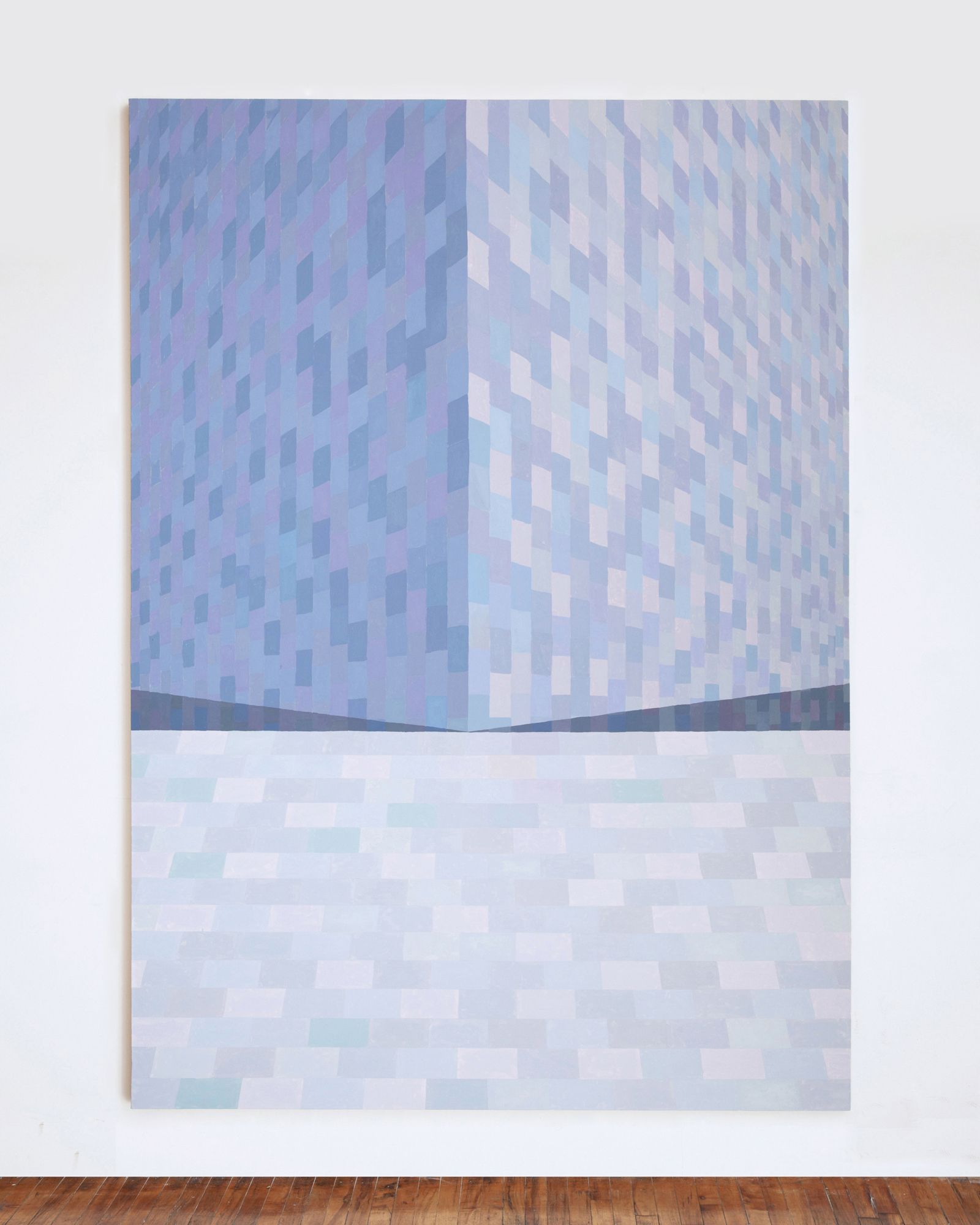 Corydon Cowansage, Roof #16, 2013, 106 x 76 inches, oil on canvas