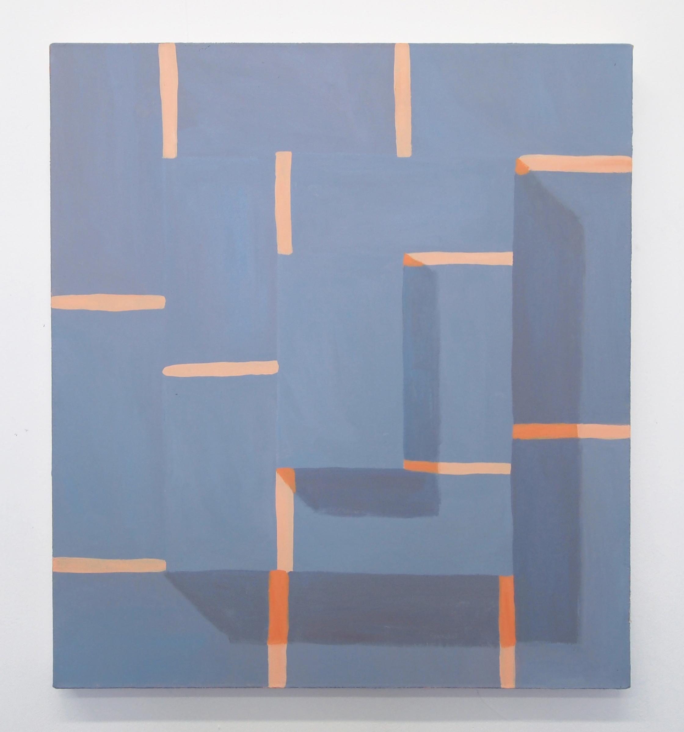Corydon Cowansage, Stack #9, 2017, 20 x 18 inches, acrylic on canvas