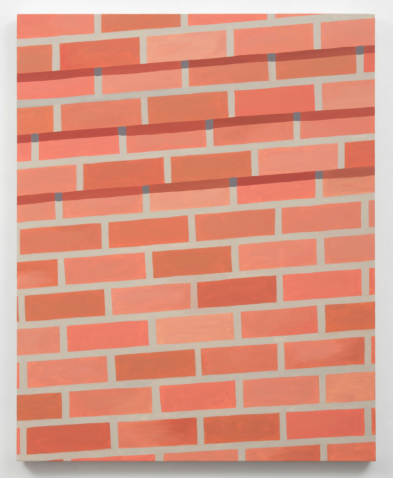 Corydon Cowansage, Wall #1, 2014, 40 x 50 inches, oil on canvas