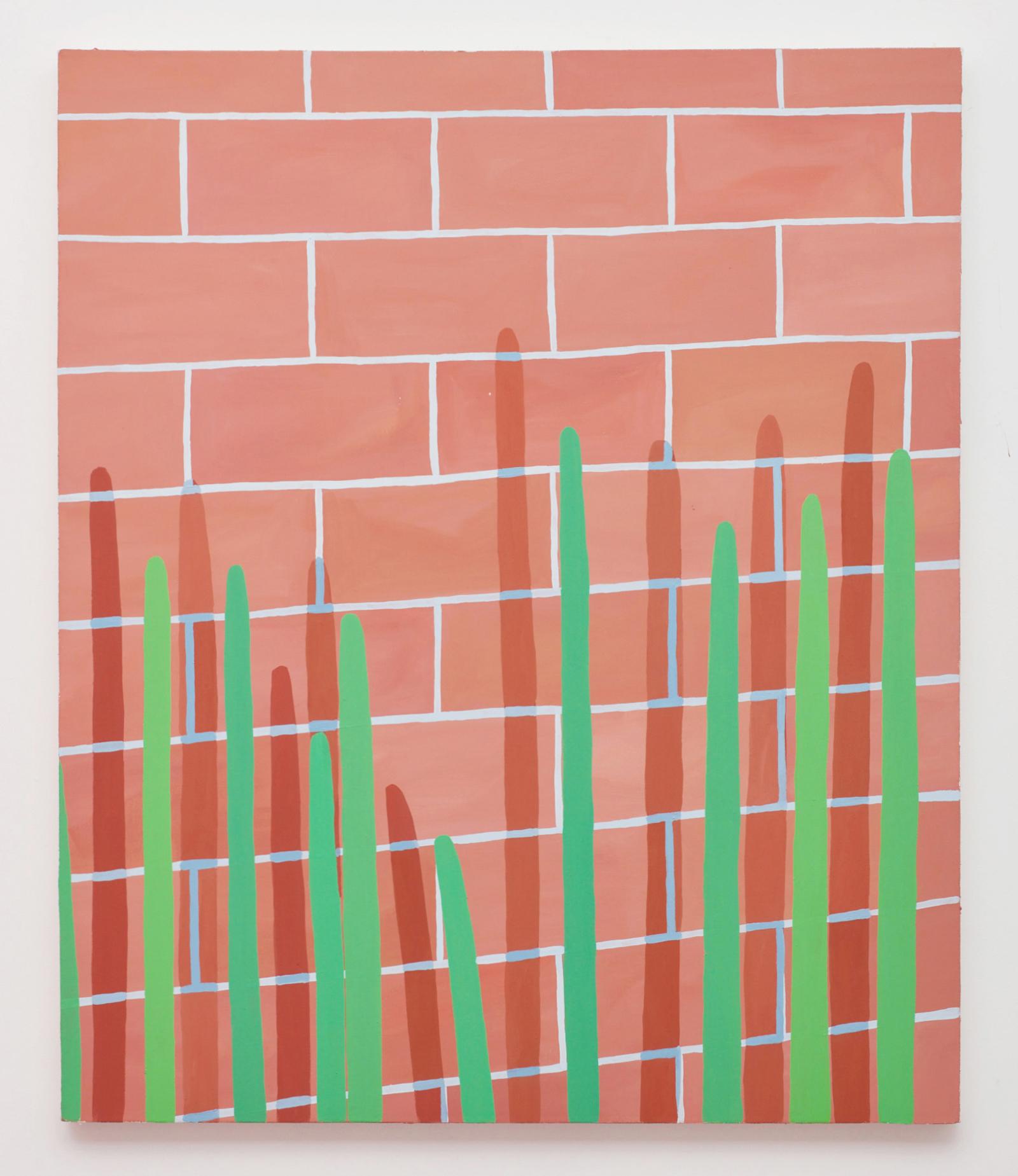 Corydon Cowansage, Wall #4, 2015, 38 x 32 inches,  acrylic on canvas
