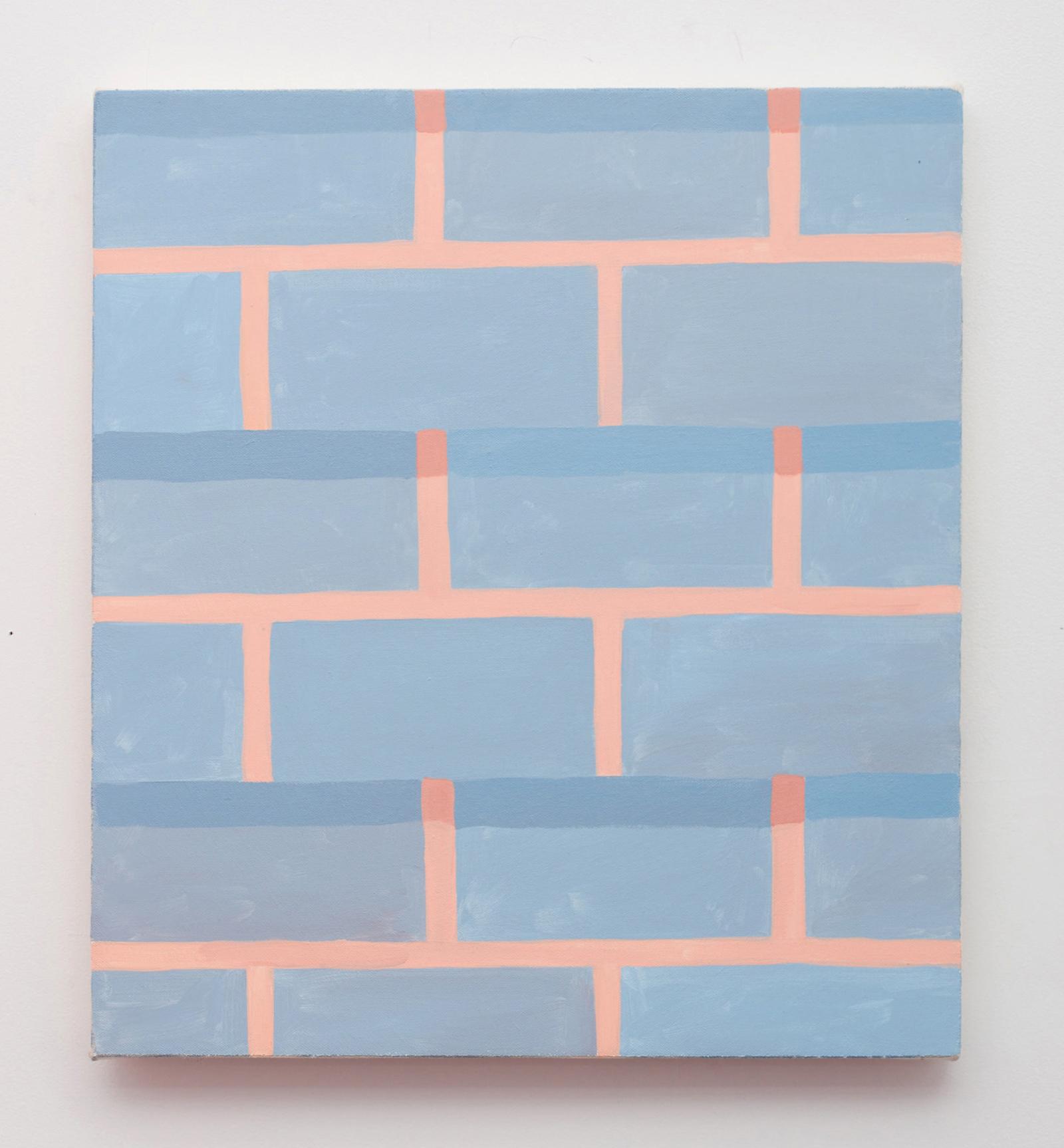 Corydon Cowansage, Wall #7, 2016, 18 x 16 inches, acrylic on canvas