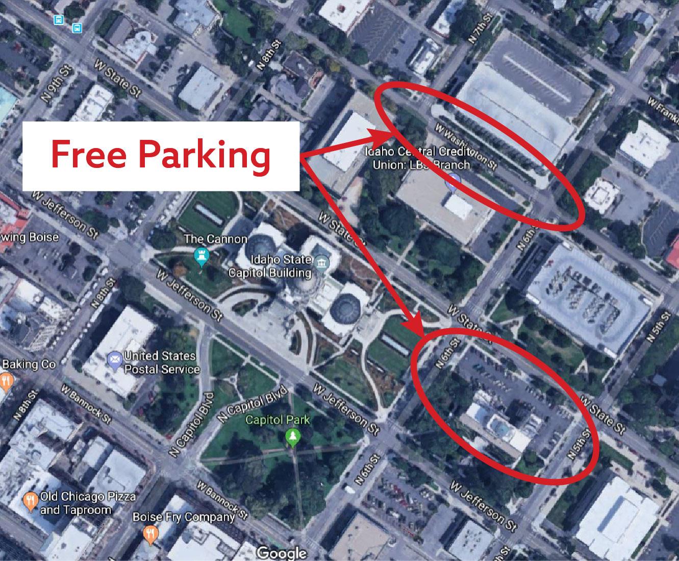 Idaho capitol parking