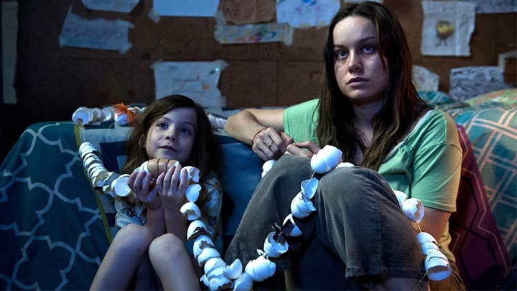 "Jacon Tremblay y Brie Larson en ""Room""."