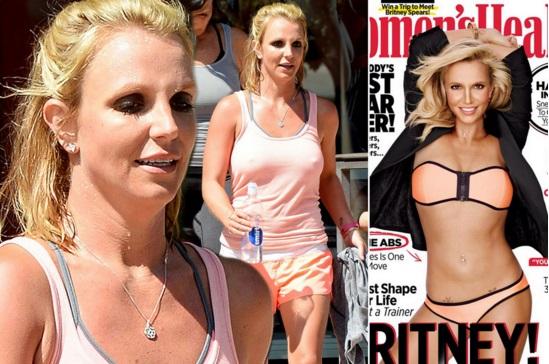 Britney afirma que su escultural cuerpo se debe a un buen régimen de ejercicio y dieta balanceada.