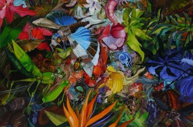 Episodio de la creacion II. oleo sobre tela 150 x 150 cm. 2015 copia
