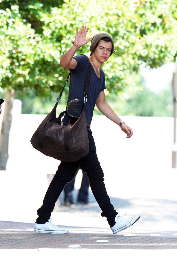 Harry Styles of One Direction leaves the hotel in Atlanta