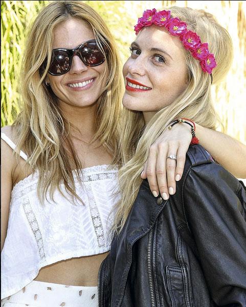 Sienna Miller y Poppy Delevingne.