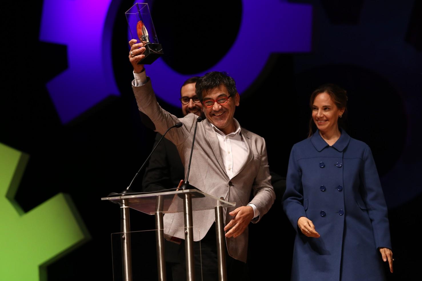 Guillermo Calderón, ganador del premio a Mejor Guion.