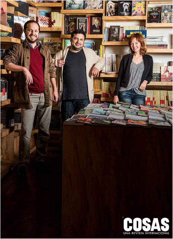 Los socios de Babel: Francisco Carrión, Javier Masías y Jacqueline Becker.