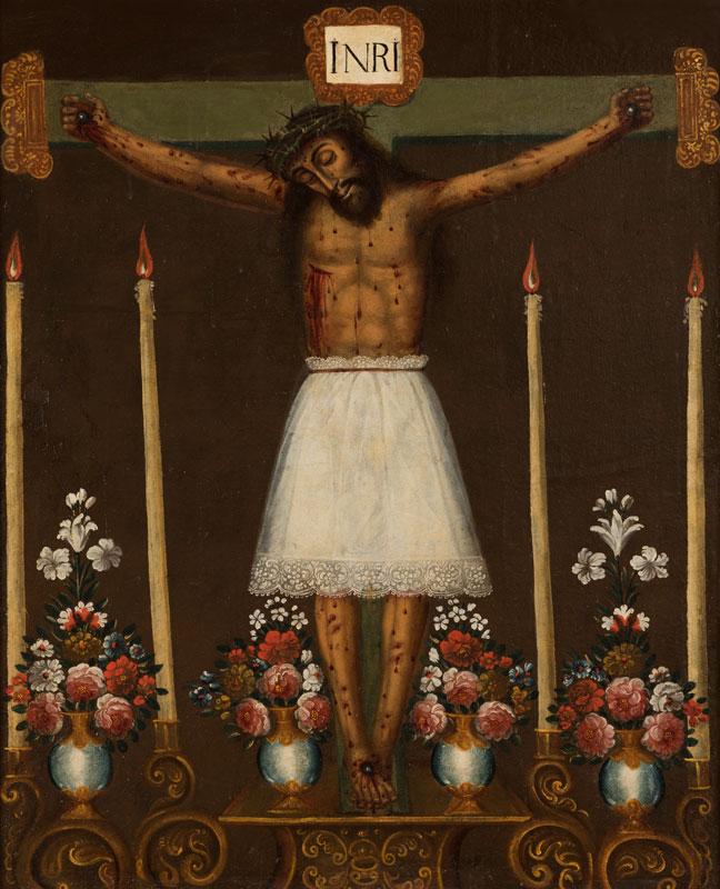 """""""Señor de los Temblores"""" (c. 1750-1780), óleo anónimo cusqueño."""