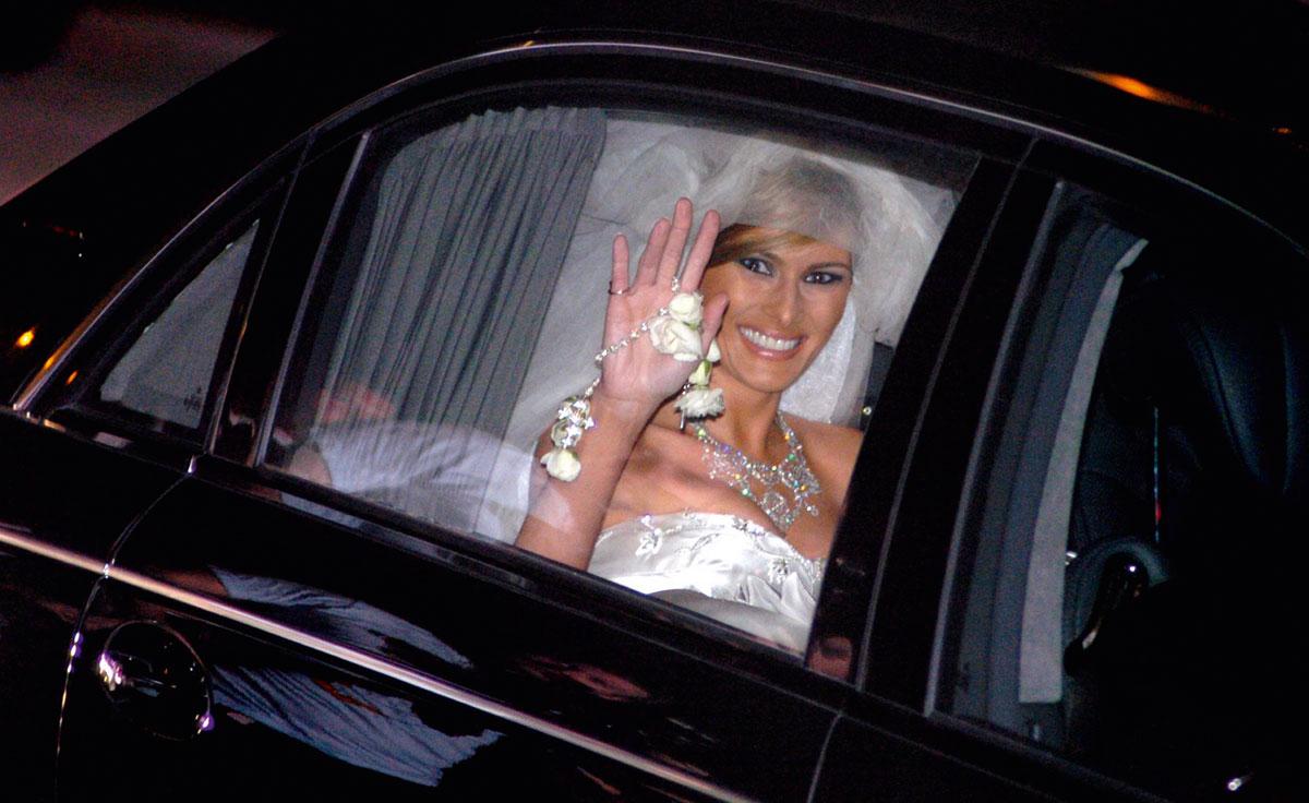 Melania se casó con Donald Trump el 22 de enero de 2005, en Palm Beach, Florida.