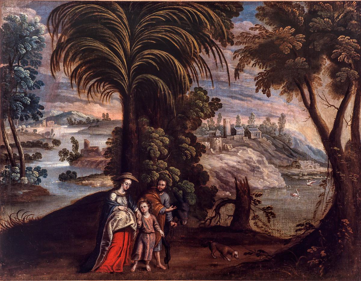 """""""Retorno de Egipto 1680"""". Diego Quispe Tito (San Sebastián, Cuzco, 1611- 1681). Museo Nacional de Arqueología, Antropología e Historia del Perú. Ministerio de Cultura del Perú."""