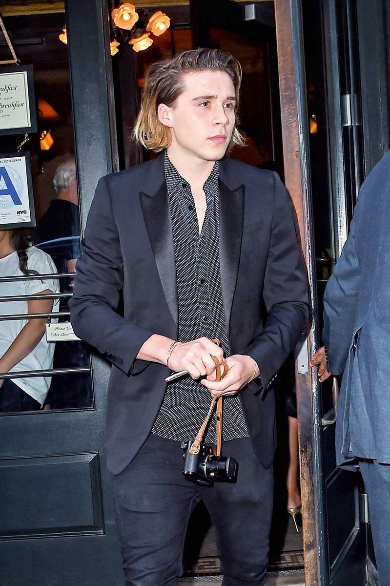 Brooklyn Beckham, hijo de David y Victoria Beckham.
