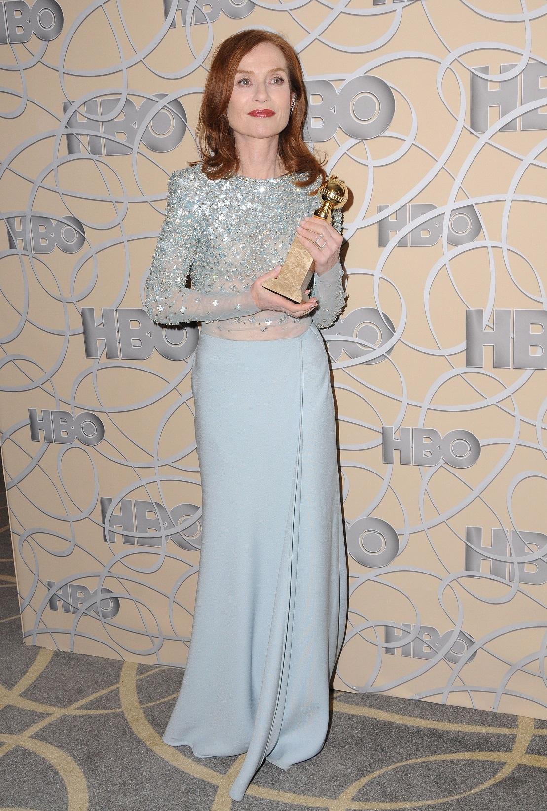 Isabelle Huppert - Golden Globes