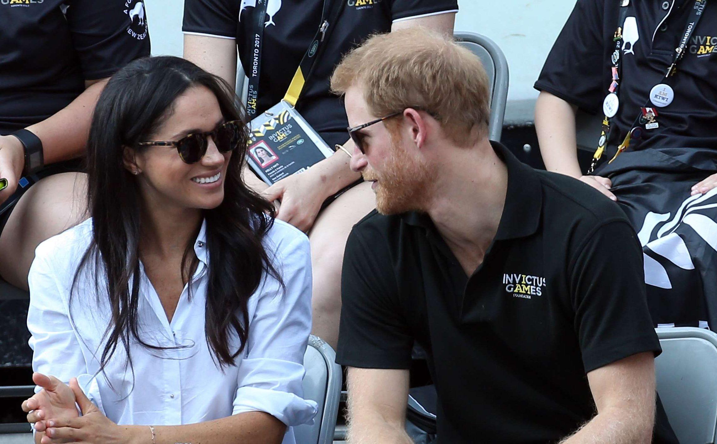 El príncipe Harry y Meghan Markle en los Juegos Invictus de Toronto de 2017.