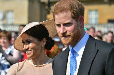 Meghan Markle y el príncipe Harry en su primer acto público como duques de Sussex.