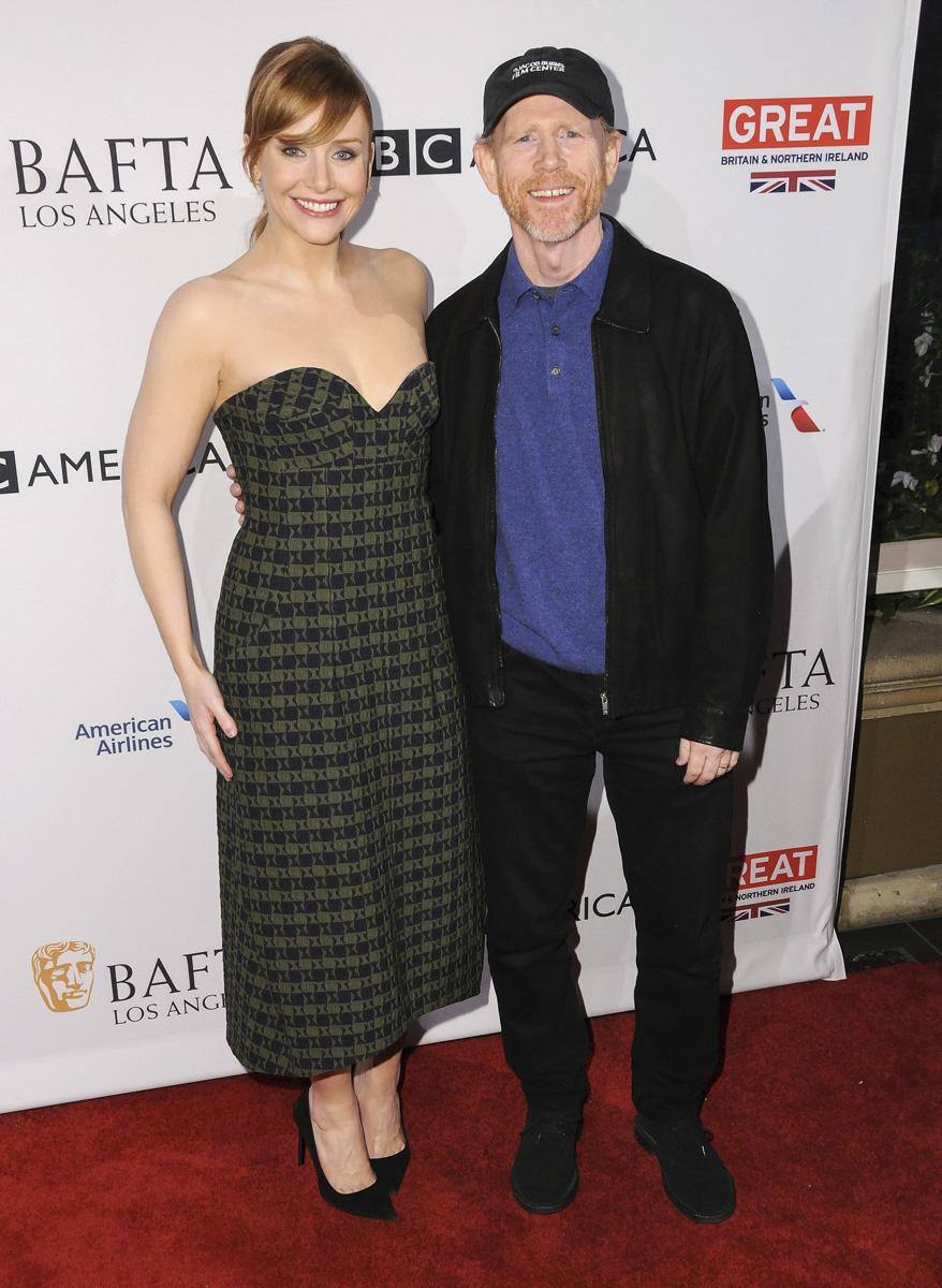 La actriz Bryce Dallas y el cineasta Ron Howard.