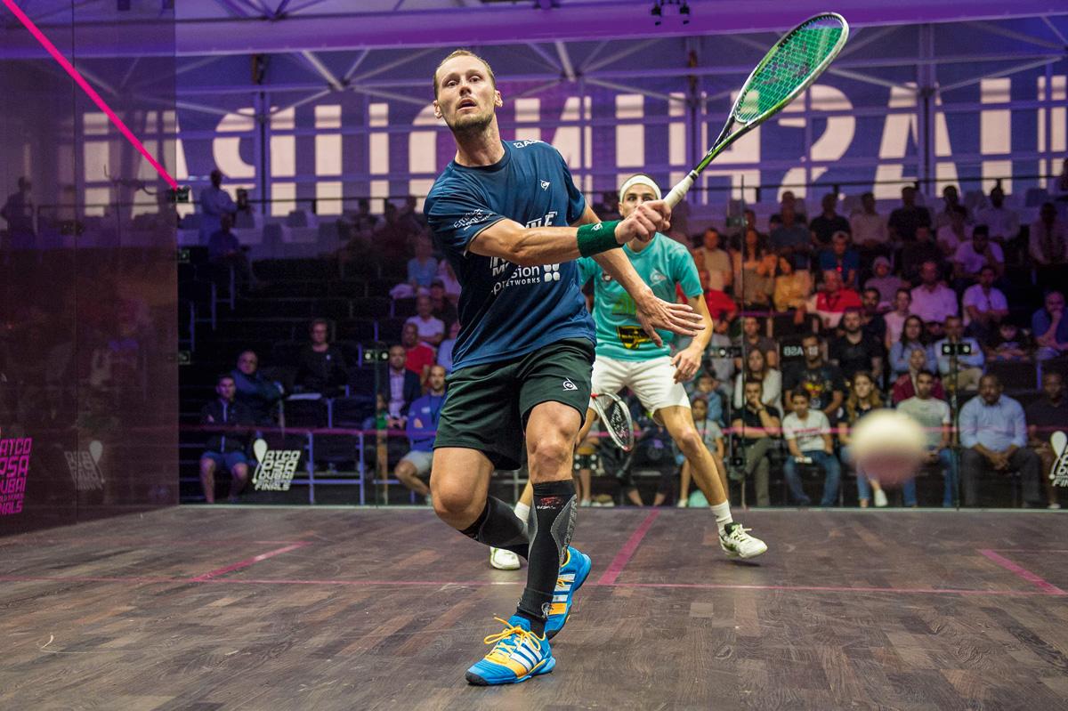En enero de este año, Grégory Gaultier se convirtió en el primer hombre en jugar setecientos partidos de squash a nivel profesional.