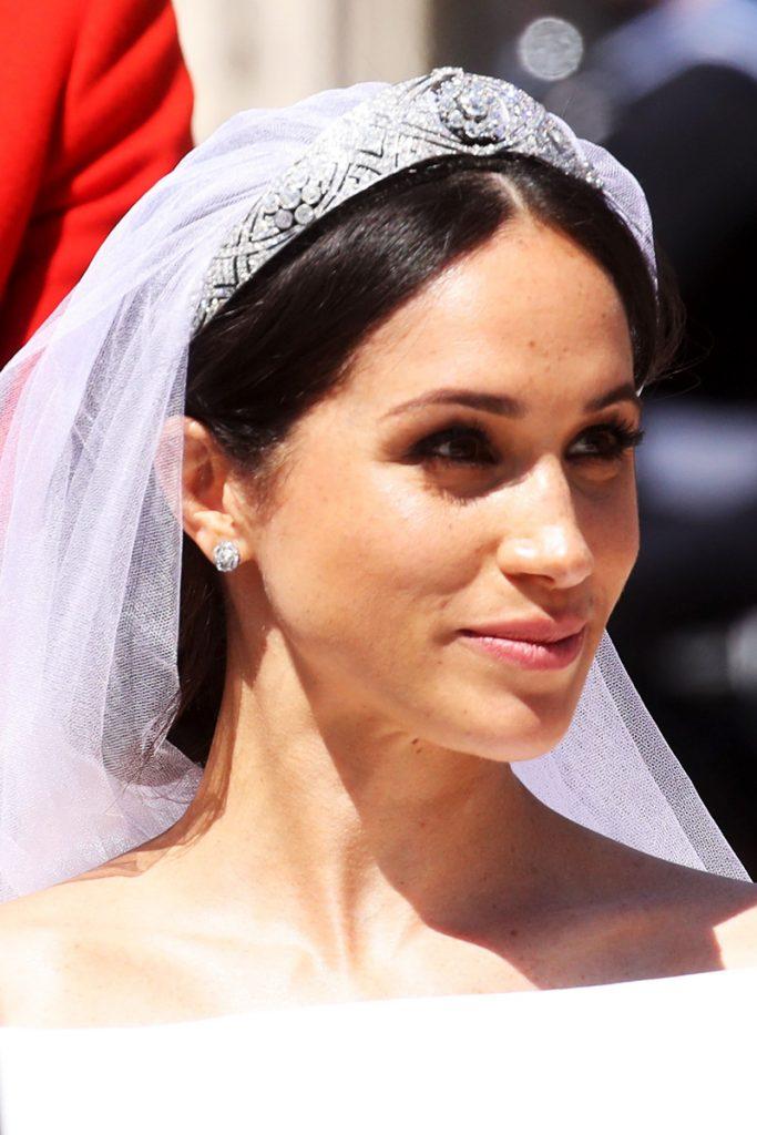 Meghan Markle lleva la tiara Mary de Teck el día de su boda
