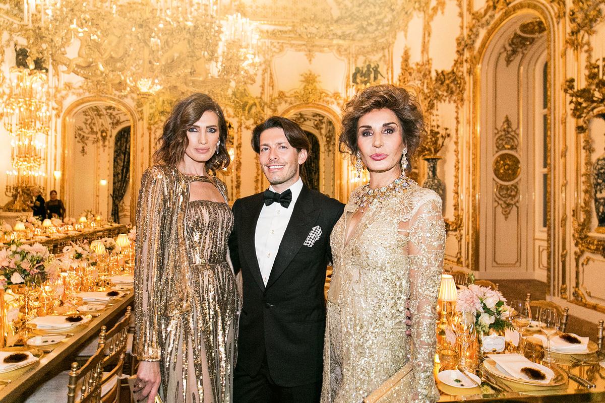 Naty Abascal junto a la modelo Nieves Álvarez y el empresario Edgardo Osorio en Viena, en noviembre del año pasado.