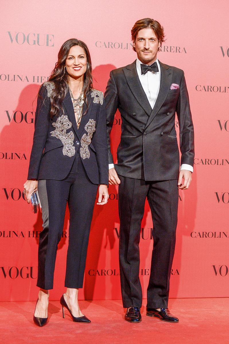 Luis Medina Abascal y su buena amiga, la diseñadora venezolana Yliana Yépez.