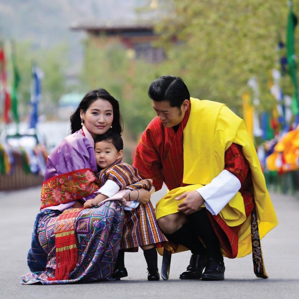 Los reyes de Bután y el príncipe dragón