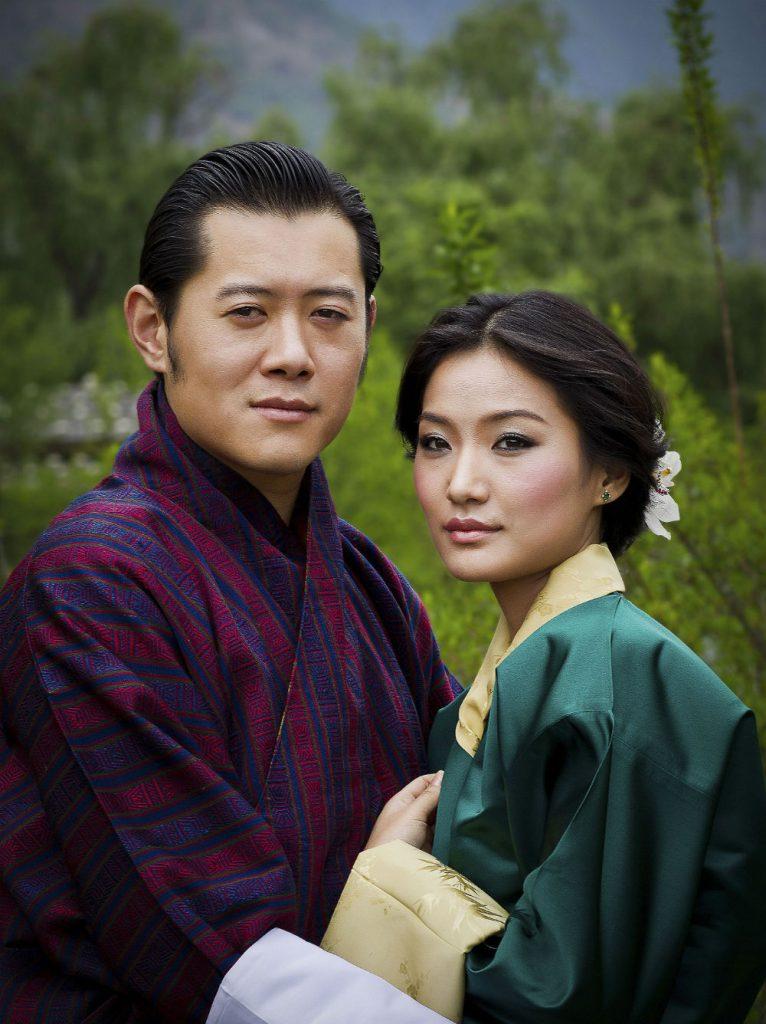 Pareja real Bután