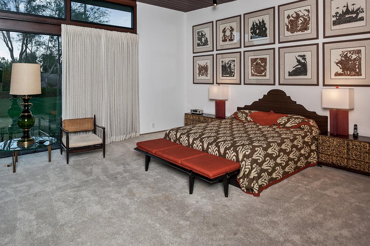 Judy Garland celebró su noche de bodas con Vicente Minnelli en esta habitación de la casa.